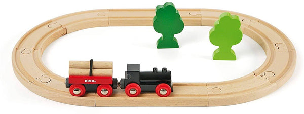 BRIO World - 33042 Little Forest Train Set | 18 Piece Train Toy with Accessories and Wooden Tracks for Kids Ages 3 and Up