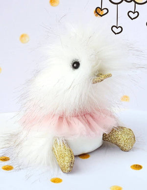 Doudou Et Compagnie Stuffed Animal Plush Duck -Tutu With Gold Glitter-Kidding Around NYC