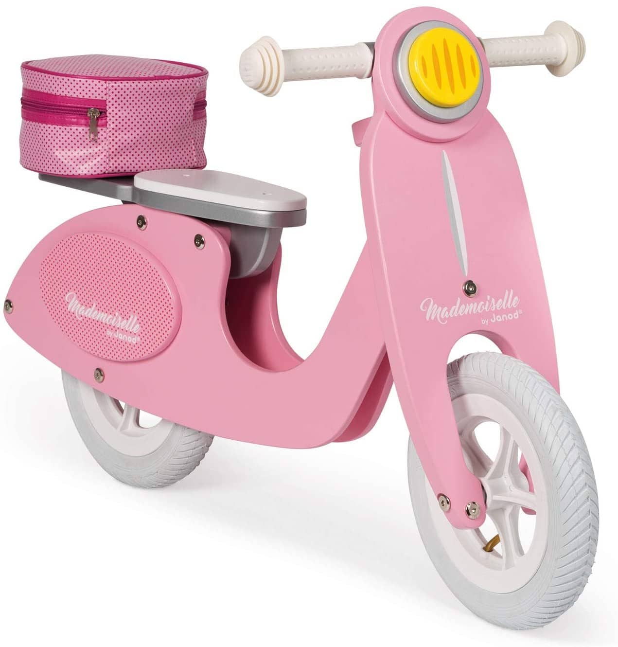 Janod Mademoiselle Pink Wooden Scooter Balance Bike-Kidding Around NYC