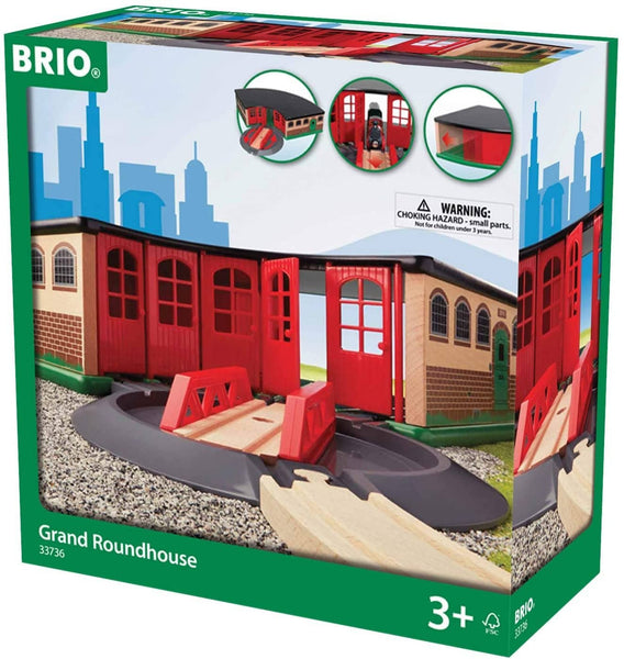 Brio World - 33736 Grand Roundhouse | 2 Piece Toy Train Accessory For Kids Age 3 And Up-Kidding Around NYC