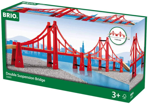 Brio World - 33683 Double Suspension Bridge | 5 Piece Toy Train Accessory For Kids Age 3 And Up