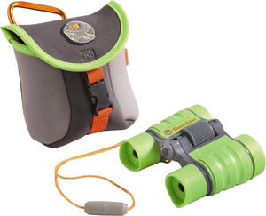 Terra Kids Binoculars - Appropriate For Children & Scouts - Hiking, Camping, Fishing, Ball Games - 4X30 Magnification With Compact Case-Kidding Around NYC