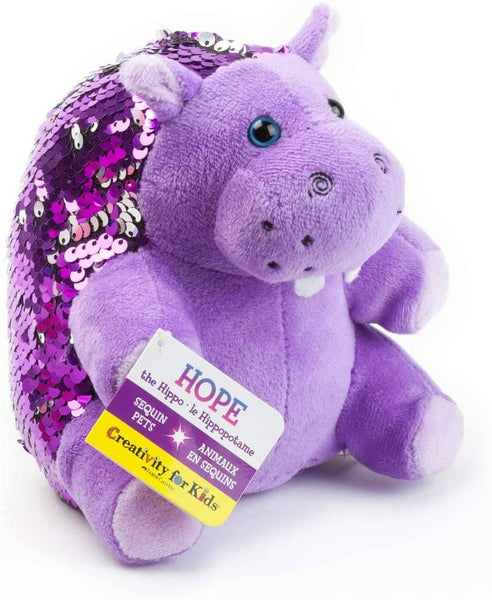 Mini Sequin Pet Hope The Hippopotamus-Kidding Around NYC