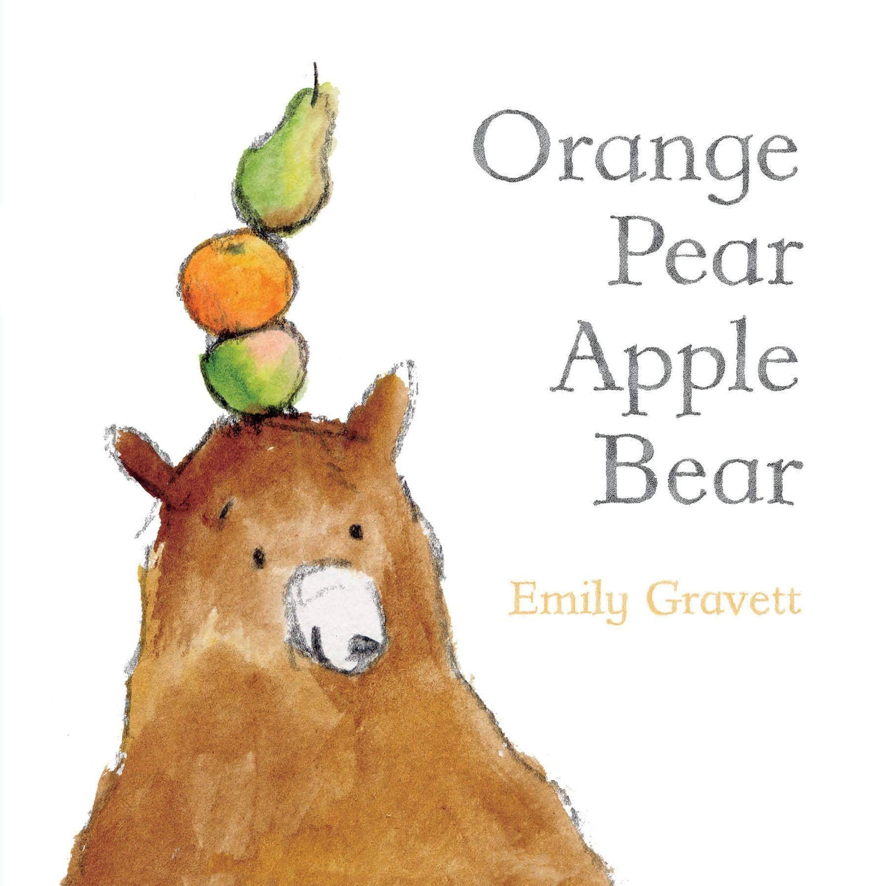 Orange Pear Apple Bear (Board Book)-Kidding Around NYC