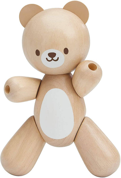 Wooden Bear Teething Grasping Toy-Kidding Around NYC