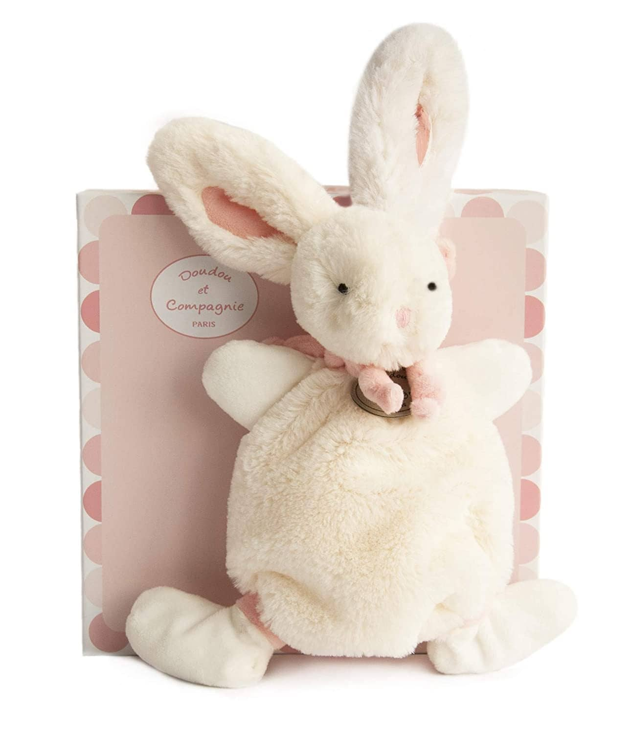 Doudou Et Compagnie Doudou Baby Security Blanket In Gift Box -Pink-Kidding Around NYC