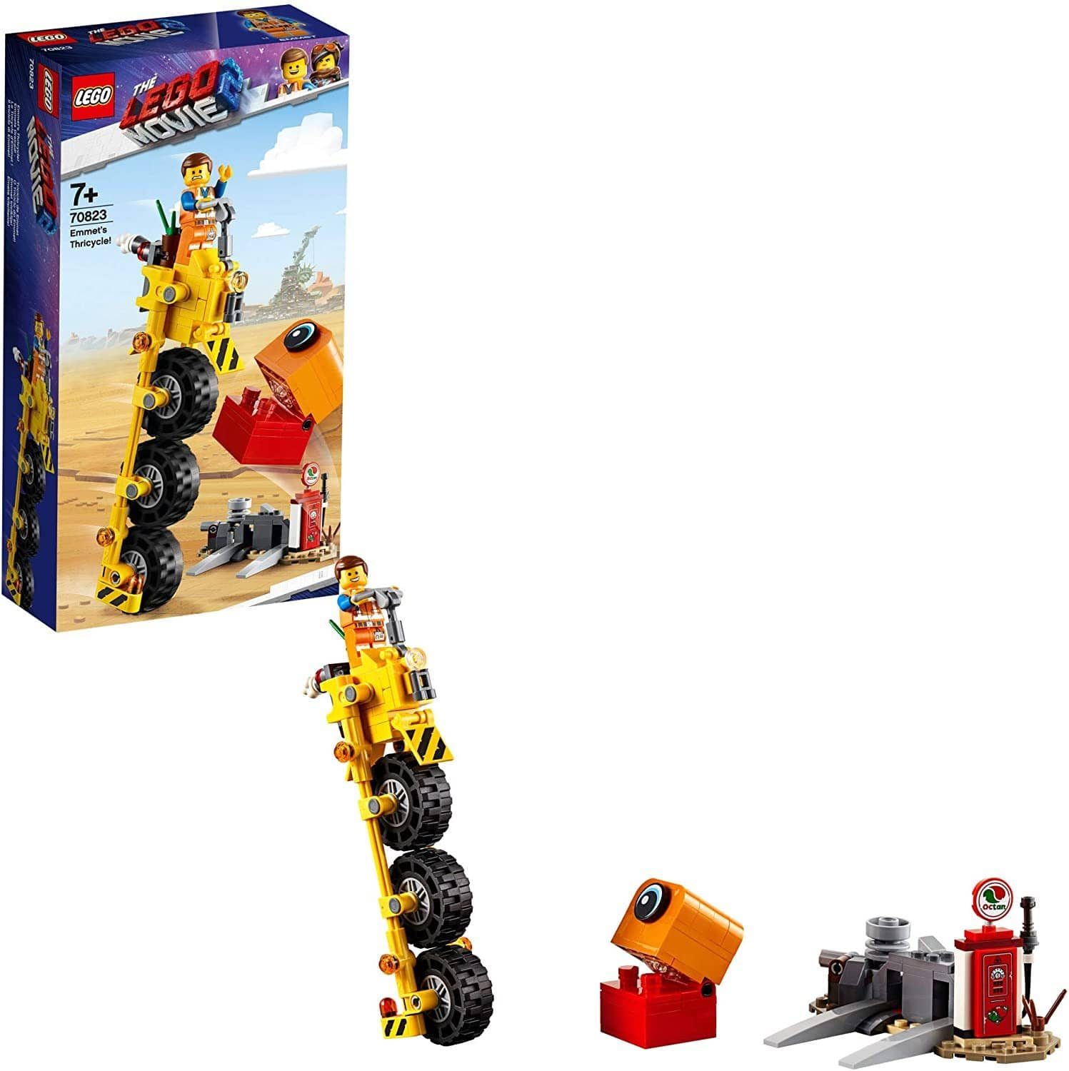 Lego The Lego Movie 2 Emmet'S Thricycle; 70823 Three Wheel Toy Bicycle Action Building Kit For Kids (173 Pieces)-Kidding Around NYC