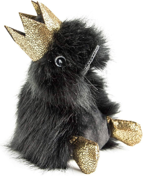 Doudou Et Compagnie Stuffed Animal Plush Duck -Charly Prince With Gold Glitter Crown-Kidding Around NYC
