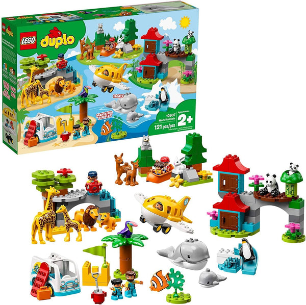 LEGO 10907: DUPLO: World Animals (121 Pieces)-Kidding Around NYC