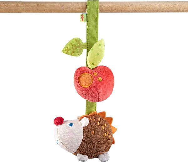 Dangling Figure Hedgehog With Rattling And Crinkle Noises - Machine Washable Attaches To Crib-Kidding Around NYC