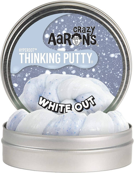 Hyperdot White Out Crazy Aaron's Thinking Putty