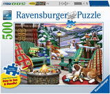 Ravensburger 16442: Apres All Day (500 Large Piece Jigsaw Puzzle)-Kidding Around NYC