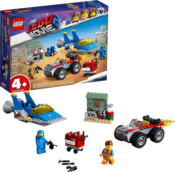 "LEGO 70821: LEGO Movie 2: Emmet And Benny's ""Build And Fix"" Workshop! (117 Pieces)-Kidding Around NYC"