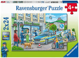Ravensburger 05031 Police at Work! (Two 24 Piece Jigsaw Puzzles)
