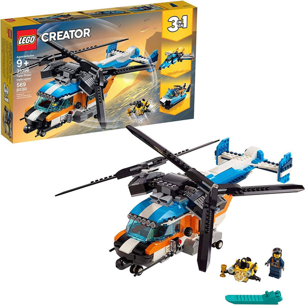LEGO 31096: Creator: 3-in-1 Twin-Rotor Helicopter (569 Pieces)-Kidding Around NYC