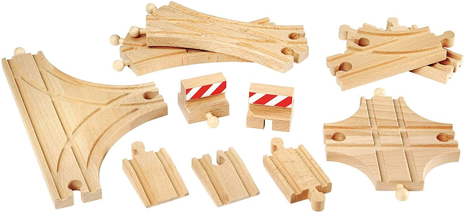 Brio World - 33307 Advanced Expansion Pack | 11 Piece Set Of Wooden Train Tracks For Kids Ages 3 And Up-Kidding Around NYC