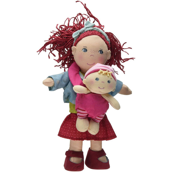 "Soft Rubina Doll With Removable Baby In Carrier, 12""-Kidding Around NYC"