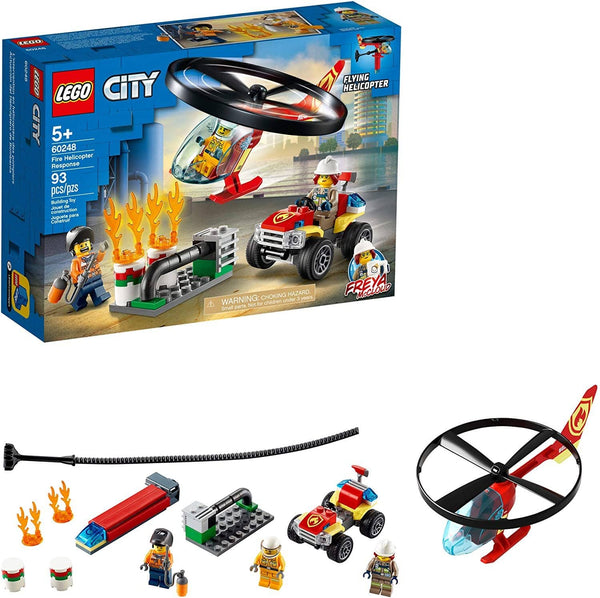 LEGO 60248: City: Fire Helicopter Response (93 Pieces)-Kidding Around NYC