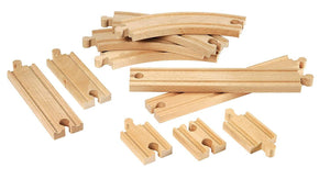 Brio World - 33401 Beginners Expansion Pack | 11 Piece Wooden Train Tracks For Kids Ages 3 And Up-Kidding Around NYC