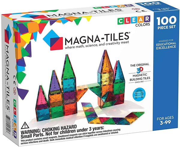 Magna Tiles Clear Colors 100Pc Set