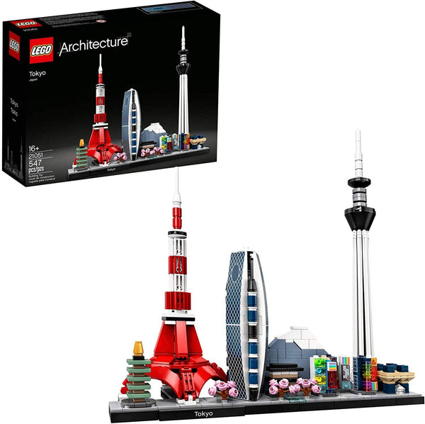 Lego Architecture Skylines: Tokyo 21051 Building Kit, Collectible Architecture Building Set For Adults, New 2020 (547 Pieces)-Kidding Around NYC