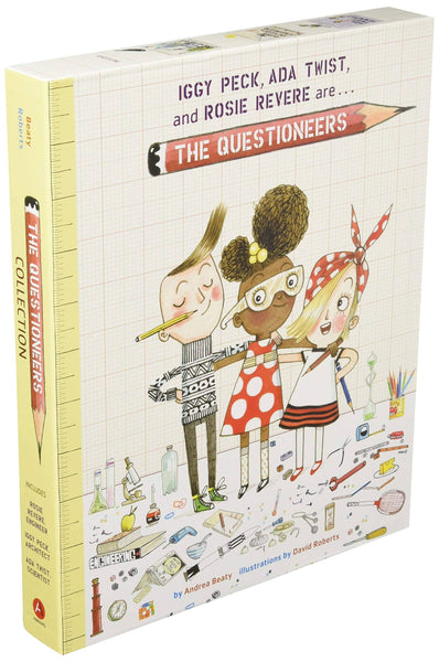 The Questioneers: Iggy-Peck Architect, Ada Twist Scientist And Rosie Revere Engineer (Boxset)-Kidding Around NYC