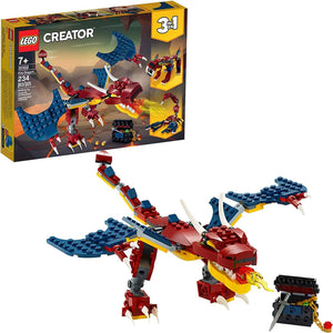 LEGO 31102: Creator: 3-in-1 Fire Dragon (234 Pieces)-Kidding Around NYC