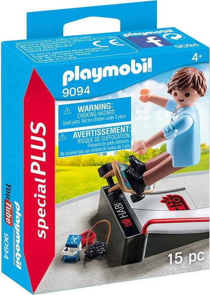 PLAYMOBIL Skateboarder with Ramp Building Set