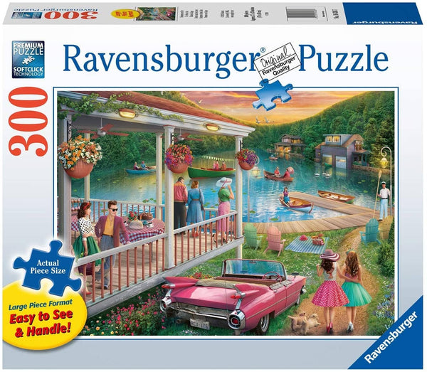 Ravensburger 16438: Summer At The Lake (300 Large Piece Jigsaw Puzzle)-Kidding Around NYC