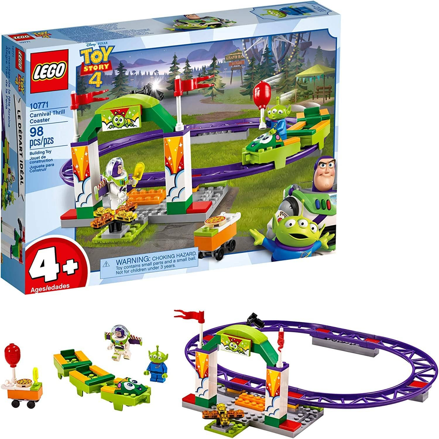 Lego | Disney Pixars Toy Story 4 Carnival Thrill Coaster 10771 Building Kit (98 Pieces)-Kidding Around NYC