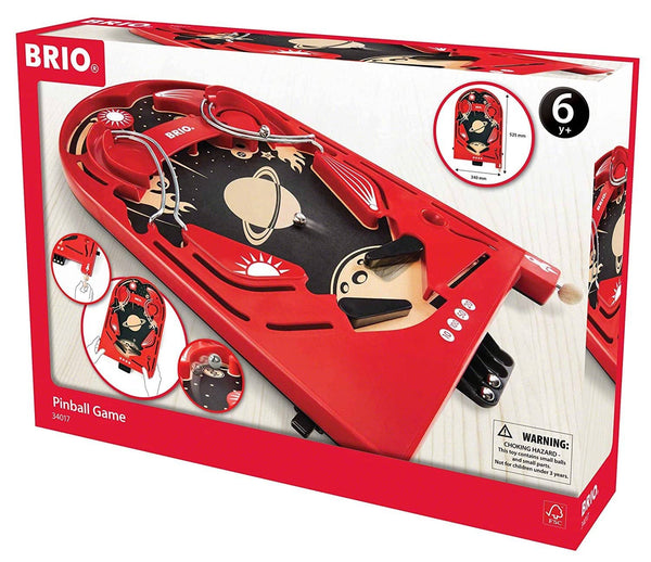 Brio 34017 Pinball Game | A Classic Vintage, Arcade Style Tabletop Game For Kids And Adults Ages 6 And Up