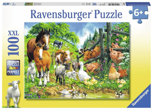 Ravensburger 10689 Animals Get Together (100 Piece Jigsaw Puzzle)-Kidding Around NYC