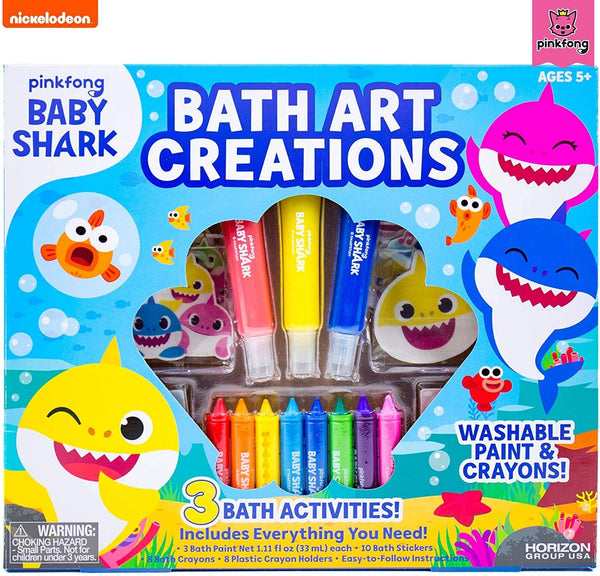 Baby Shark Bath Art