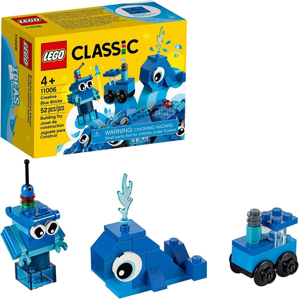 LEGO 11006: Classic: Creative Blue Bricks (52 Pieces)-Kidding Around NYC