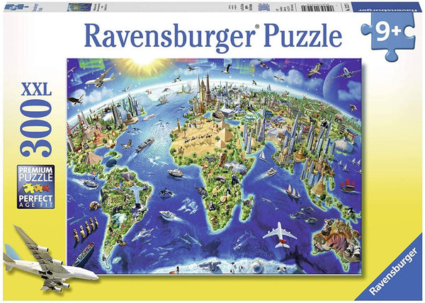 Ravensburger 13227: World Landmarks Map (300 Piece Jigsaw Puzzle)