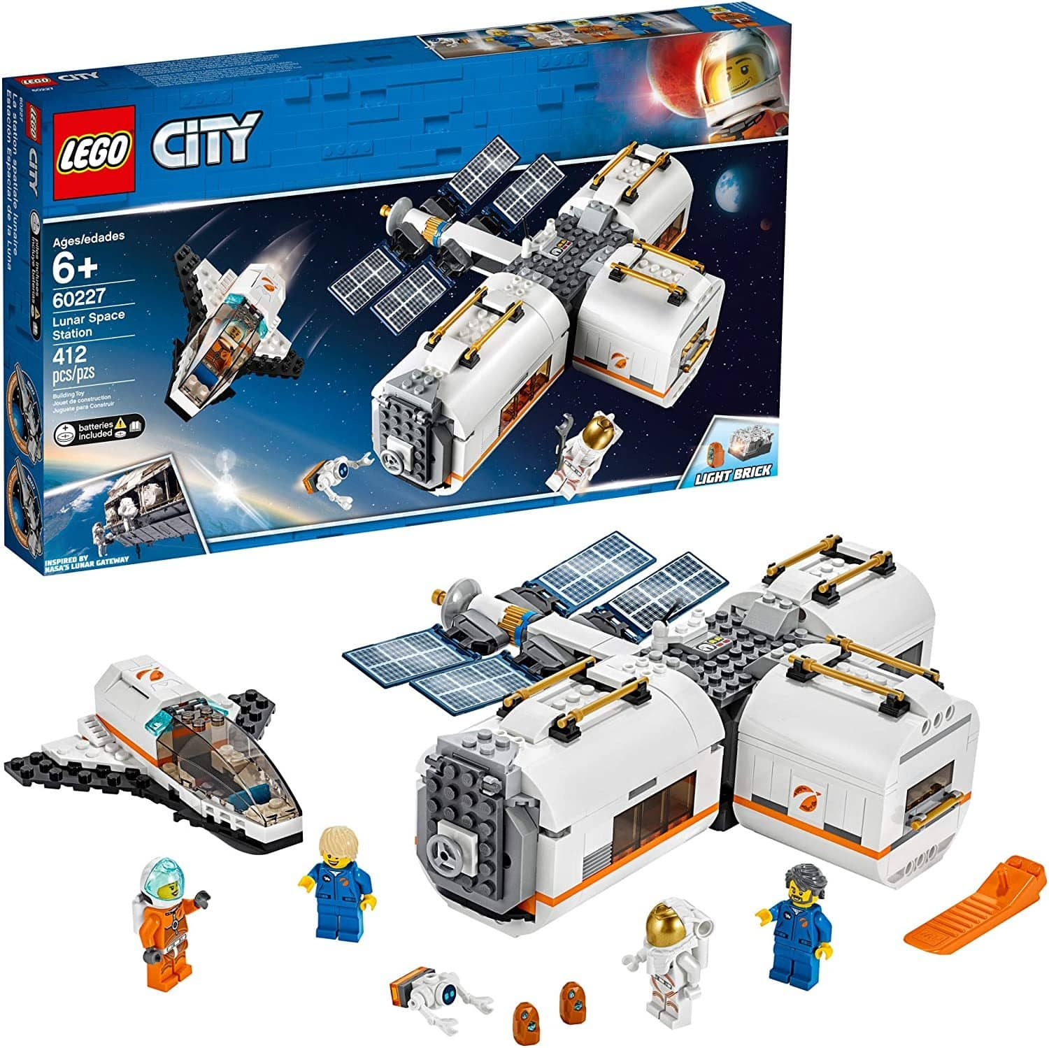 LEGO 60227: City: Lunar Space Station (412 Pieces)-Kidding Around NYC
