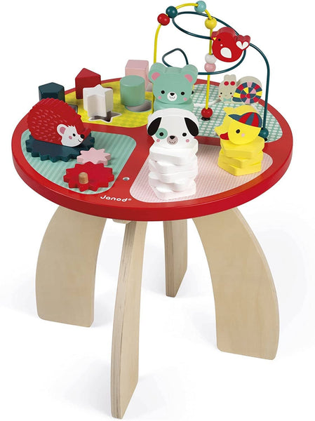 Janod Baby Forest Wooden Activity Table-Kidding Around NYC