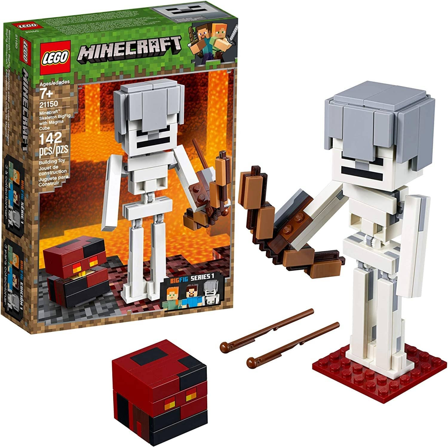 LEGO 21150: Minecraft: Skeleton Bigfig With Magma Cube (142 Pieces)-Kidding Around NYC