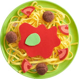 Biofino Spaghetti Bolognese Polyester Pasta And Meatballs - For Pretend Role Play Dinner Fun-Kidding Around NYC