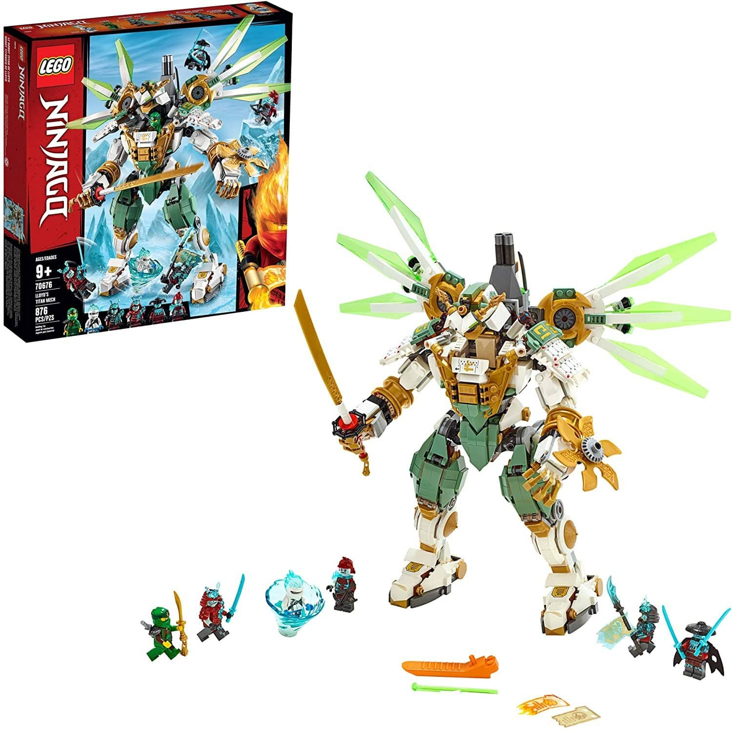 LEGO 70676: NINJAGO: Lloyd's Titan Mech (876 Pieces)-Kidding Around NYC