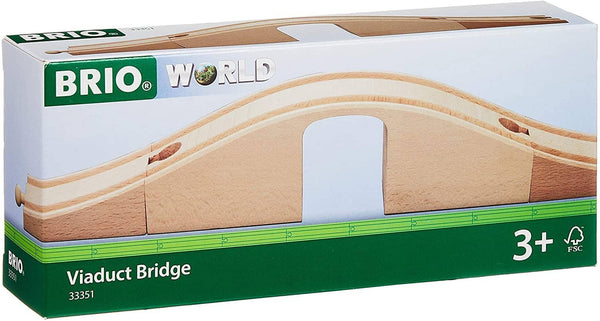 Brio World - 33351 Viaduct Bridge | 3 Piece Wooden Toy Train Accessory For Kids Ages 3 And Up