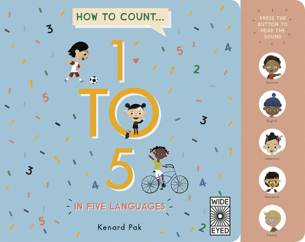How To Count In 5 Languages (Board Book)-Kidding Around NYC
