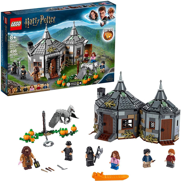LEGO 75947: Harry Potter: Hagrid's Hut: Buckbeak's Rescue (496 Pieces)-Kidding Around NYC