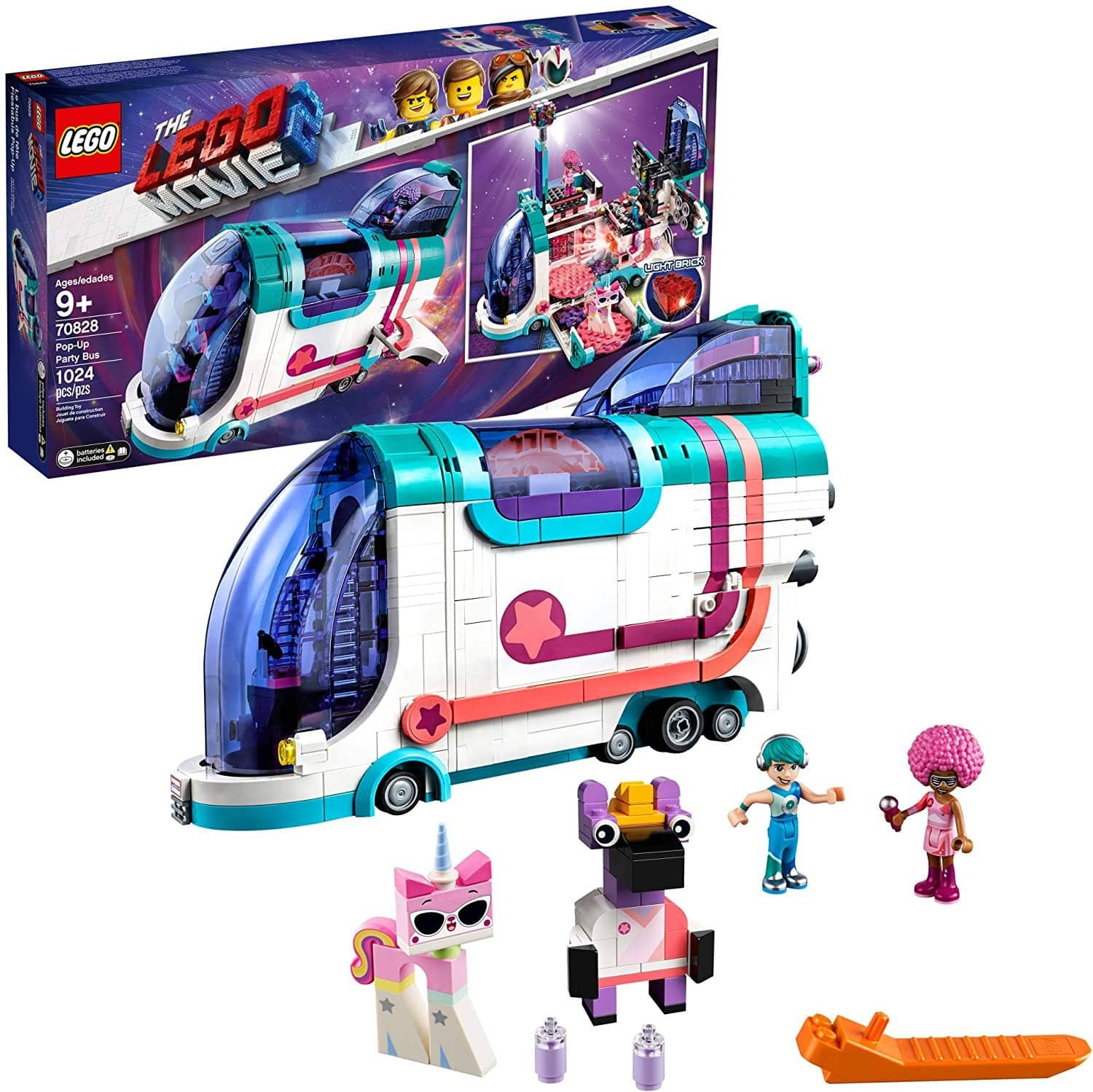 LEGO 70828: LEGO Movie 2: Pop-Up Party Bus (1024 Pieces)-Kidding Around NYC