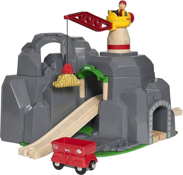 Brio World - 33889 Crane & Mountain Tunnel | 7 Piece Toy Train Accessory For Kids Ages 3 And Up-Kidding Around NYC