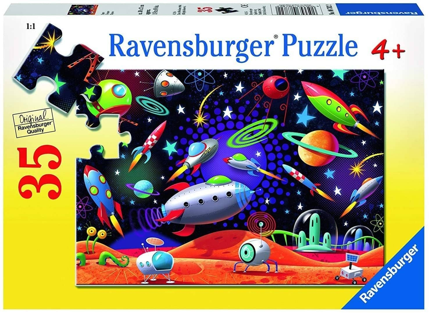 Ravensburger Space Jigsaw 35 Piece Jigsaw Puzzle For Kids – Every Piece Is Unique, Pieces Fit Together Perfectly-Kidding Around NYC
