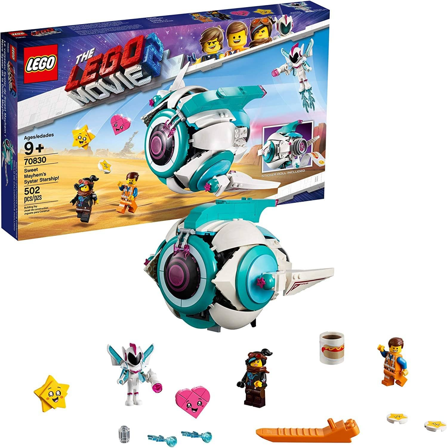 LEGO 70830: LEGO Movie 2: Sweet Mayhem's Systar Starship! (502 Pieces)-Kidding Around NYC