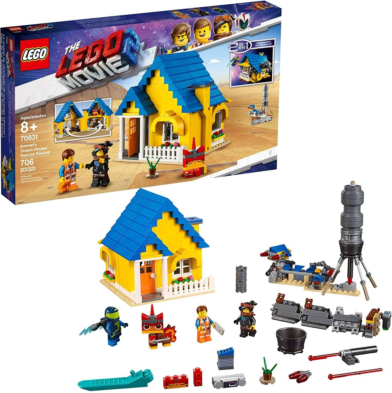 LEGO 70831: LEGO Movie 2: Emmet's Dream House/Rescue Rocket! (706 Pieces)-Kidding Around NYC