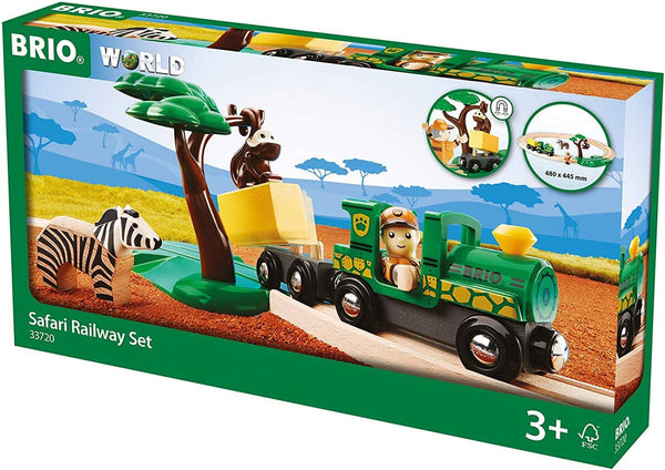 Brio World - 33720 Safari Railway Set | 17 Piece Train Toy With Accessories And Wooden Tracks For Kids Ages 3 And Up-Kidding Around NYC