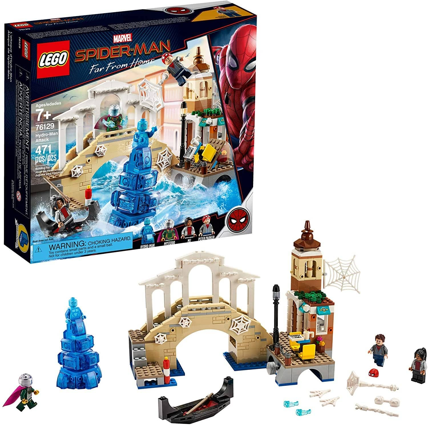 LEGO 76129: Spider-Man: Far From Home: Hydro-Man Attack (471 Pieces)-Kidding Around NYC